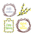 spring wreaths and frames setlettering and garden vector image vector image