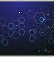 technology and science background vector image vector image