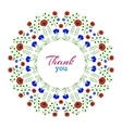 Thank youFloral Wreath vector image