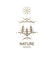 vertical logo nature vector image vector image