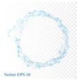 Water splash isolated vector image