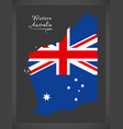 western australia map with australian national vector image vector image