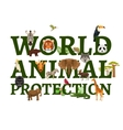 Wild Animal Protection vector image vector image