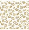 xmas gift box seamless pattern in naive style vector image