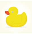 Duck toy isolated vector image