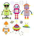 universe cosmos flat icons collection vector image
