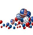 usa balloon design of american flag vector image