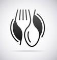 Food service logo vector image