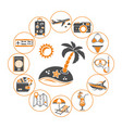 vacation time and tourism concept vector image