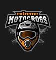 extreme motocross logo vector image