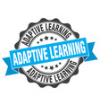 adaptive learning stamp sign seal vector image vector image