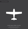 airplane premium icon vector image vector image