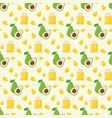avocado oil seamless pattern vector image vector image