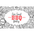 barbecue layout bbq party vector image vector image