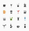 Beverage symbol icons vector image