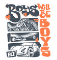boys t-shirt graphics print design vector image vector image