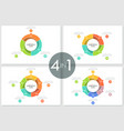 bundle of round ring-like charts vector image vector image