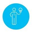 Business idea line icon vector image vector image