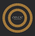 celtic knot braided frame border circle ornament vector image vector image