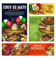 cinco de mayo mexican fiesta party celebration vector image vector image