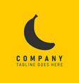 company logo icon banana vector image vector image