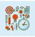 creative buisness and start up icons in flat outli vector image vector image