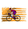 cyclist in helmet - racing bike - isolated on vector image vector image