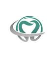 dentist logo design template vector image vector image