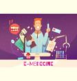 digital health cartoon vector image