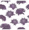 elegant seamless pattern with chrysanthemum vector image vector image