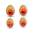 emoticon eggs symbol vector image vector image