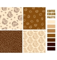 Fabric pattern set vector image