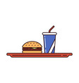 fast and junk food vector image vector image