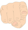 finger pointing at you eps 10 vector image