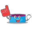 foam finger pencil case character cartoon vector image