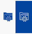 folder setting gear computing line and glyph vector image vector image
