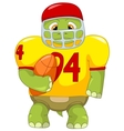 Funny Turtle Rugby vector image vector image