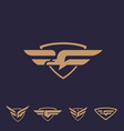 g bird logo set letter based bird theme vector image vector image