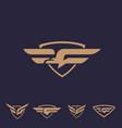 g bird logo set letter based bird theme vector image vector image