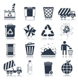 Garbage icons black vector image vector image
