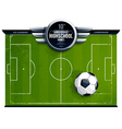 grunge soccer field vector image vector image