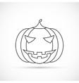 halloween pumpkin outline icon vector image vector image