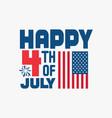 happy 4th july vector image