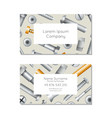 hardware store business card layout with bolts vector image vector image