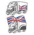 heavy truck vector image vector image