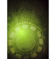 Hi-tech grunge background vector image vector image