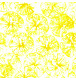 lemon stamp seamless background lemon juice vector image vector image