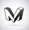 Logo for letter M vector image vector image