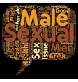 major component of female and male sexual health vector image vector image
