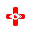 Medical logo icon eyes vector image